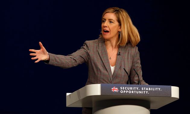 Andrea Jenkyns, MP for Morley and Outwood, addresses the Conservative Party conference in Manchester.