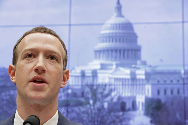 Facebook CEO Mark Zuckerberg testifies before the House energy and commerce committee in Washington, D.C., on April 11,