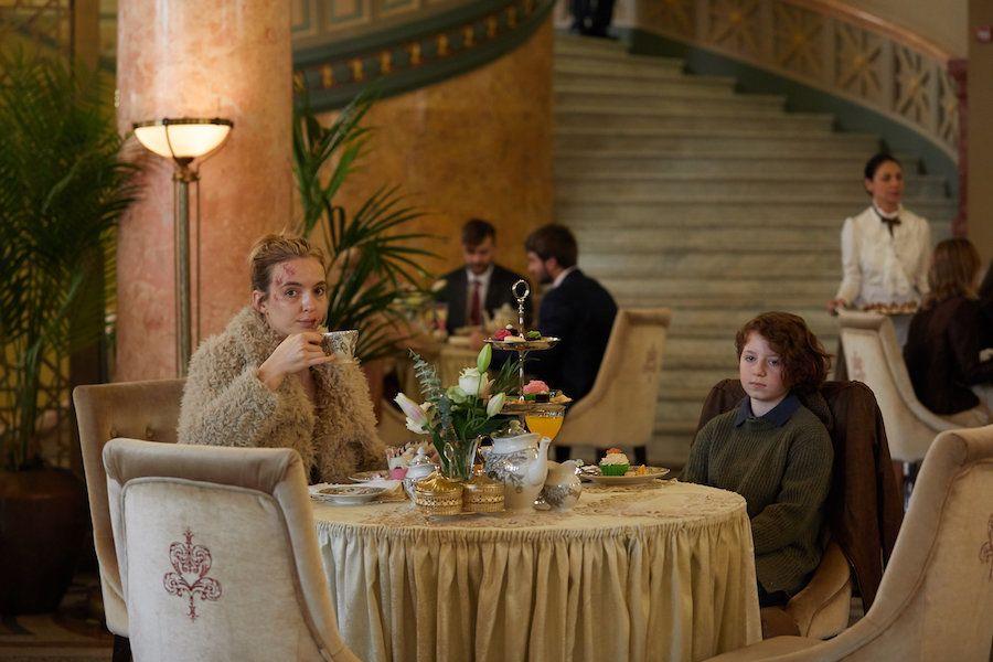 Villanelle splurges on fancy lunch with her hostage, Konstantin's