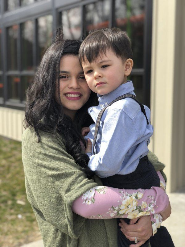 Katia Hills and her son. She says she's afraid to have another kid after the discrimination she faced...