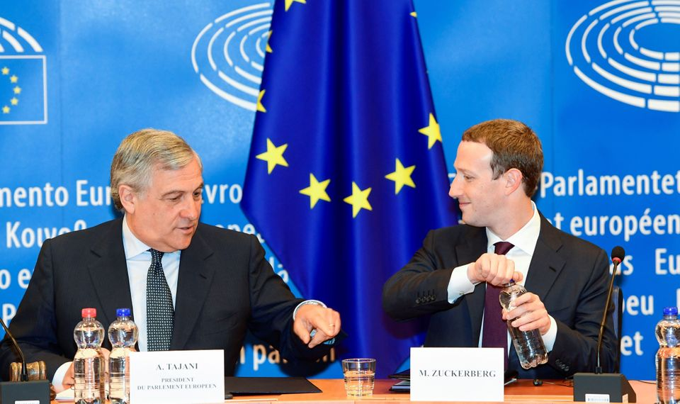 Facebook founder Mark Zuckerberg gives evidence to the European