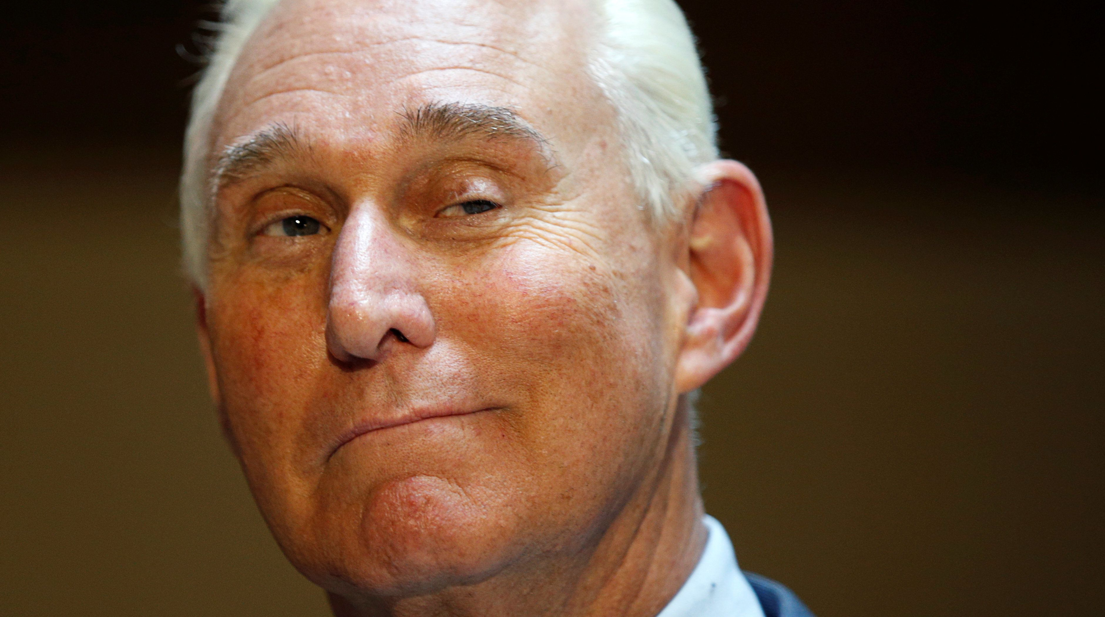 U.S. political consultant Roger Stone, a longtime ally of President Donald Trump, speaks to reporters after appearing before a closed House Intelligence Committee hearing investigating Russian interference in the 2016 U.S. presidential election at the U.S. Capitol in Washington, U.S., September 26, 2017.  REUTERS/Kevin Lamarque