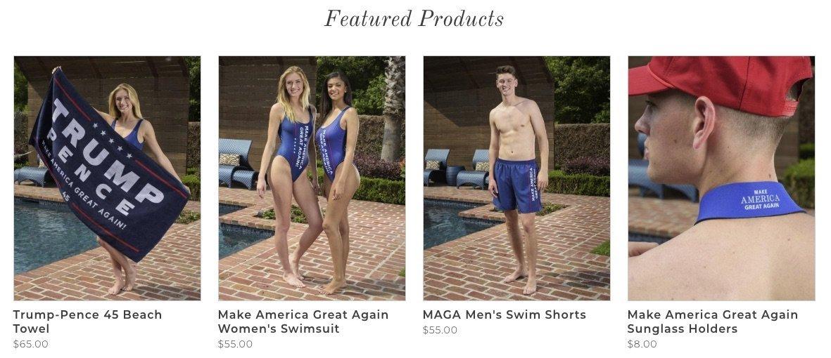 Trump's New 'MAGA'-Themed Swimwear Sinks On