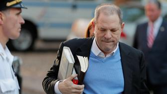 Film producer Harvey Weinstein arrives at the 1st Precinct in Manhattan in New York US May 25 2018