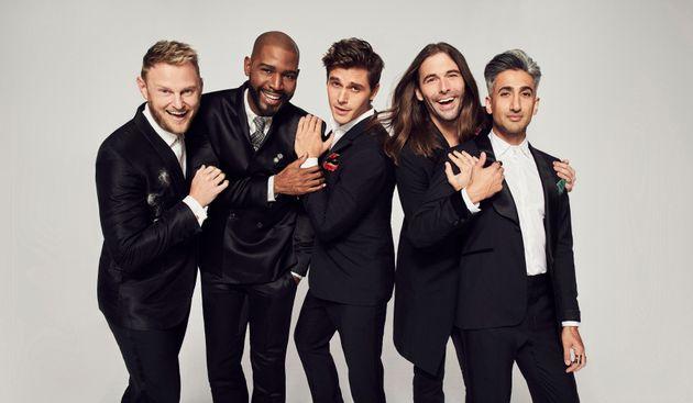 The current Fab Five: Bobby, Kamaro, Antoni, Jonathan and
