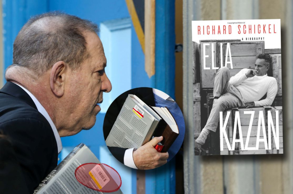 Harvey Weinstein was clutching two books when he turned himself in, one of which was the story of Elia Kazan
