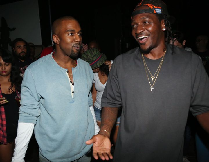 Kanye West and Pusha T pictured together in 2013.