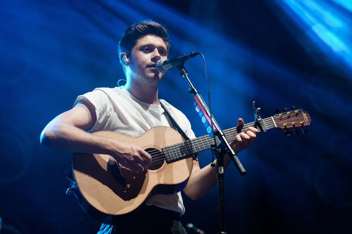 Niall Horan performs at Le Zenith on April 18, 2018 in Paris, France.