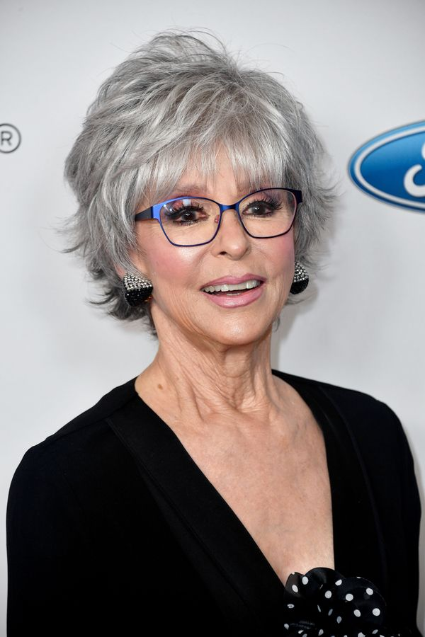 Rita Moreno is proof that gray hair is beautiful. We love her layered cut, which has plenty of volume and movement.