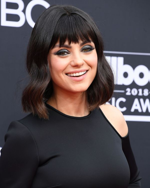 Mila Kunis was recently sporting a wavy bob with bangs, which feels fresh and light for summer.