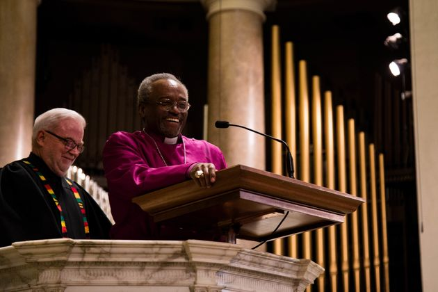 Bishop Michael Curry, presiding bishop of the Episcopal Church, preaches at theNational City Christian...