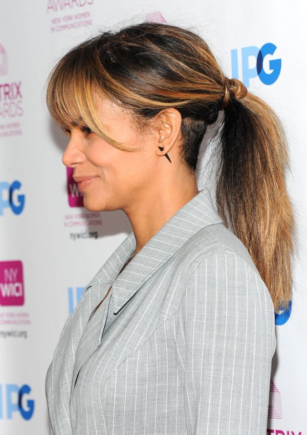Ponytails can definitely be chic, as proven by Halle Berry.