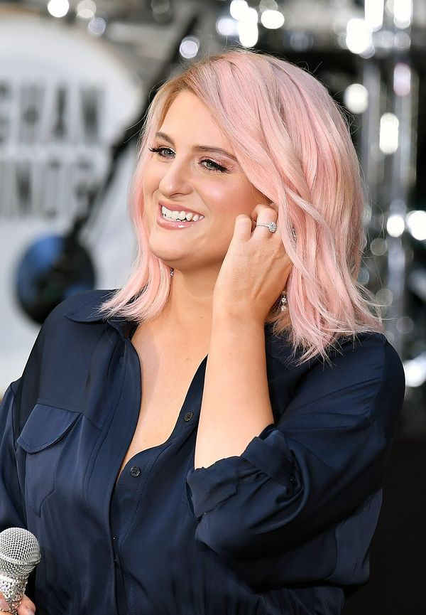 Candy-colored hair is still going strong, and we absolutely love Meghan Trainor's pastel hue. It's bold without going overboa