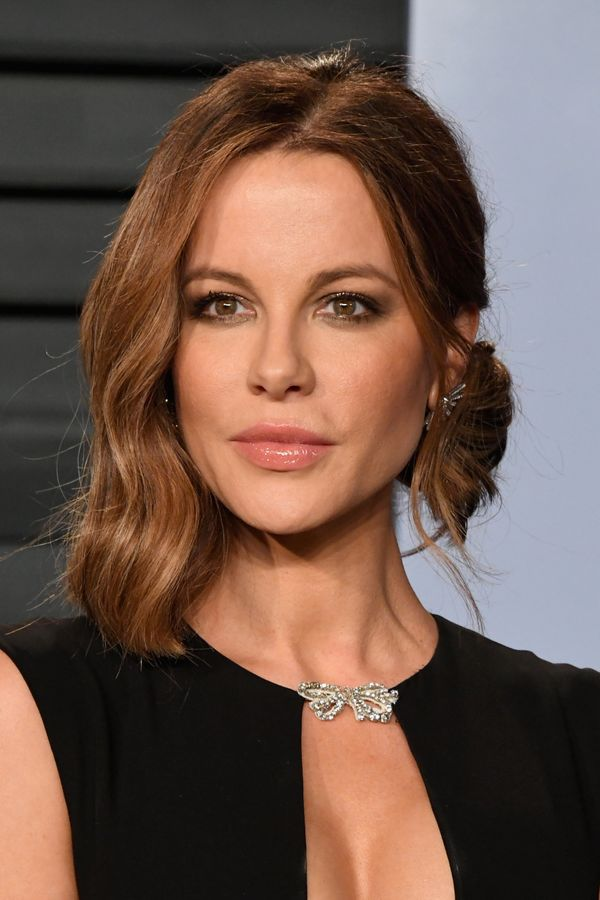 If you want to try something different for a night out, take a note from Kate Beckinsale and try a half-up half-down style.