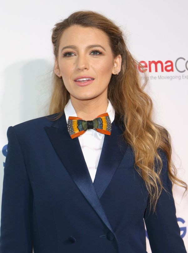 Blake Lively is pretty much the queen of beachy hair, and this half-up style is just more proof of that.