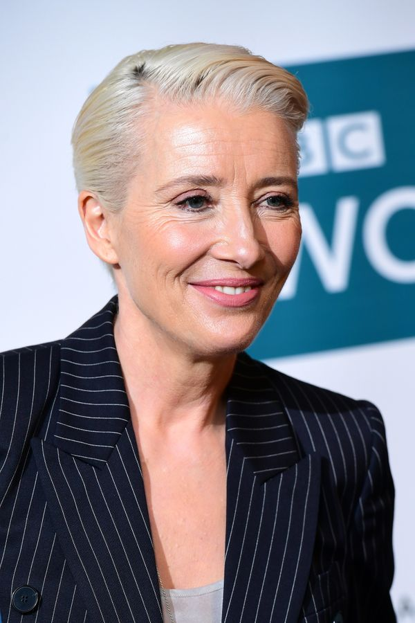 Emma Thompson's slicked-back and bleached style is unquestionably chic, and perfect for shorter hair.