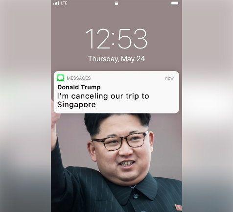 트럼프와 김정은의 '밀당'을 문자 대화로 각색하면 이렇다