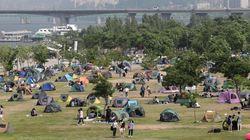 초여름 날씨에 텐트족이 한강에
