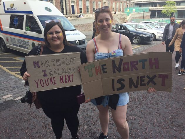 Claire Donaldson and Ellie Evans from Northern Ireland said they were 'so excited' about what the result...