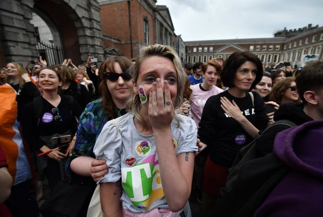 A 'Yes' voter breaks down in tears as the results are