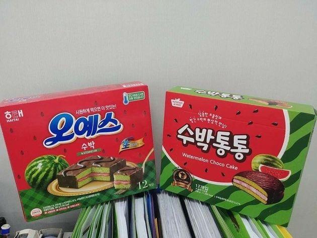 해태제과 인기상품 '오예스'가 표절 논란에 휩싸인