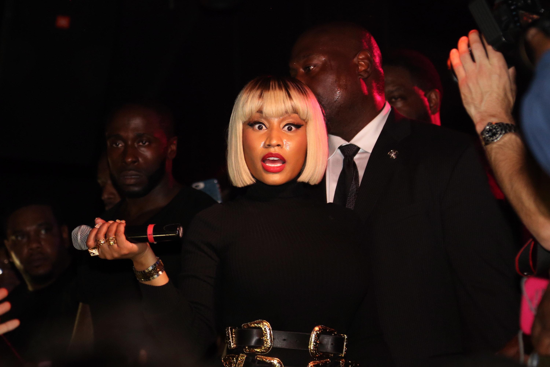 NEW YORK, NY - MAY 19:  Nicki Minaj Hosts The Highline Ballroom on May 19, 2018 in New York City.  (Photo by Johnny Nunez/WireImage)