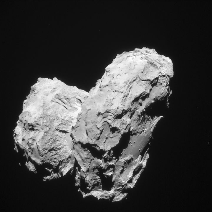 Photo of the Comet 67P of the Rosetta Spacecraft European Space Agency.