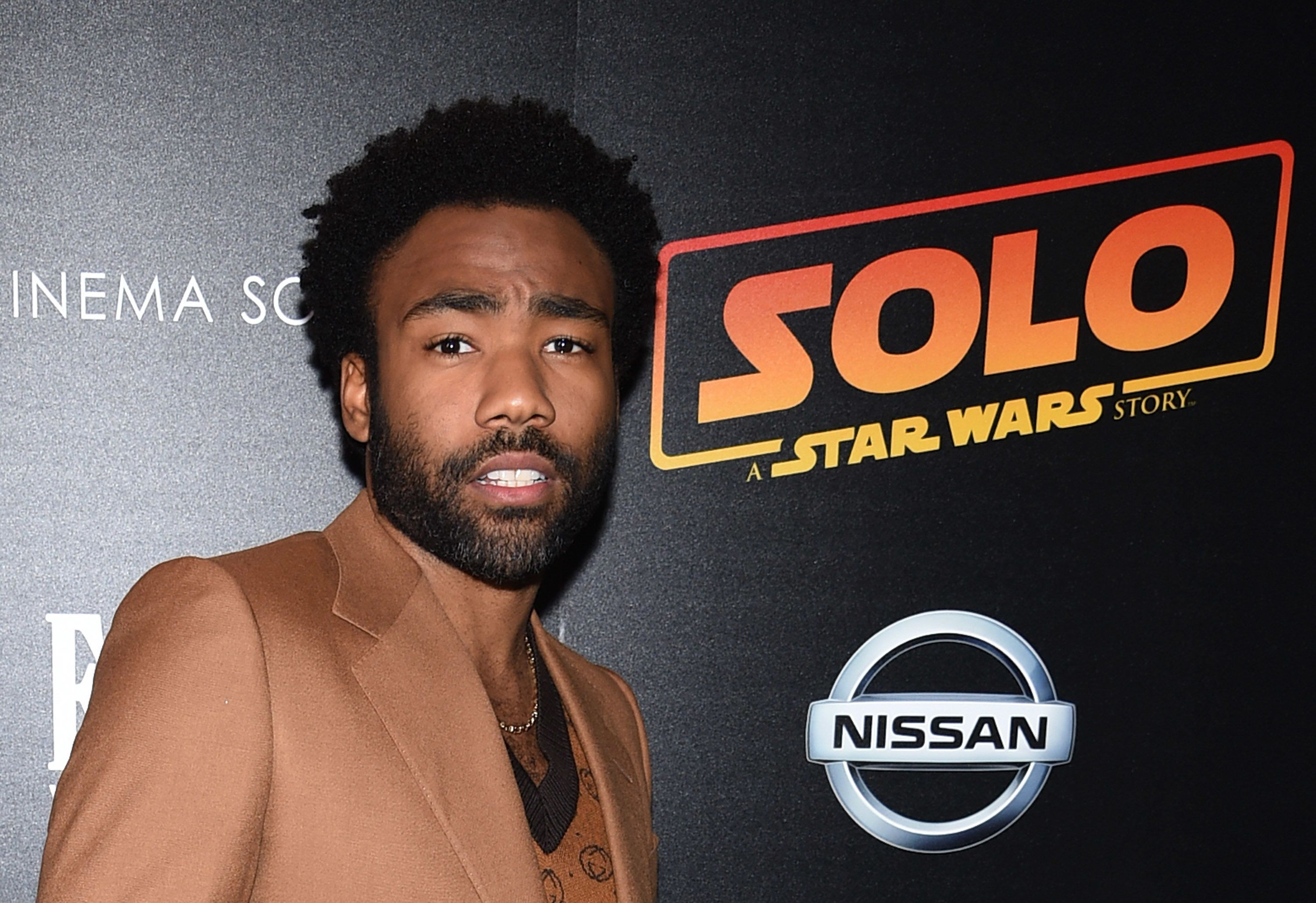 NEW YORK, NY - MAY 21:  Donald Glover attends a screening of 'Solo: A Star Wars Story' hosted by The Cinema Society with Nissan & FIJI Water at SVA Theater on May 21, 2018 in New York City.  (Photo by Dimitrios Kambouris/WireImage)