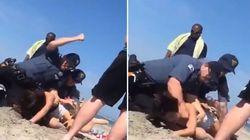 Αστυνομικός γρονθοκοπεί με απίστευτη αγριότητα νεαρή κοπέλα στην