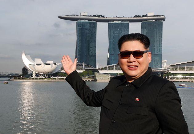 싱가포르에 '김정은'이