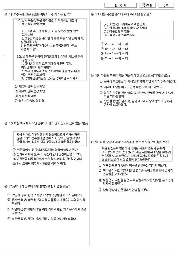 인터넷에서 난리인 '2050년 한국사 문제'를