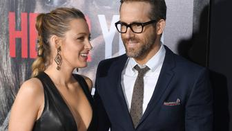 Blake Lively and Ryan Reynolds attend the Paramount Pictures premiere for 'A Quiet Place' at AMC Lincoln Square Theater on April 2, 2018 in New York City. / AFP PHOTO / ANGELA WEISS        (Photo credit should read ANGELA WEISS/AFP/Getty Images)