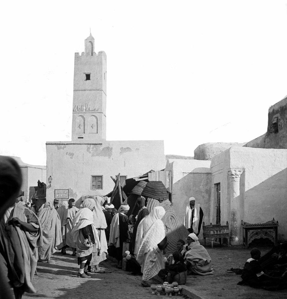 L'entrée de la mosquée en