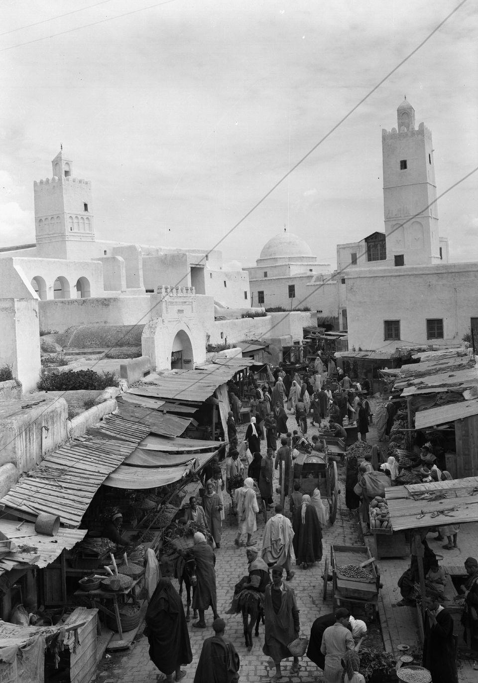 La rue principale de Kairouan en