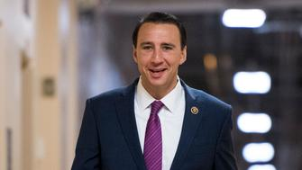 UNITED STATES - APRIL 26: Rep. Ryan Costello, R-Pa., arrives for the House Republican Conference meeting in the Capitol on Wednesday, April 26, 2017. (Photo By Bill Clark/CQ Roll Call)
