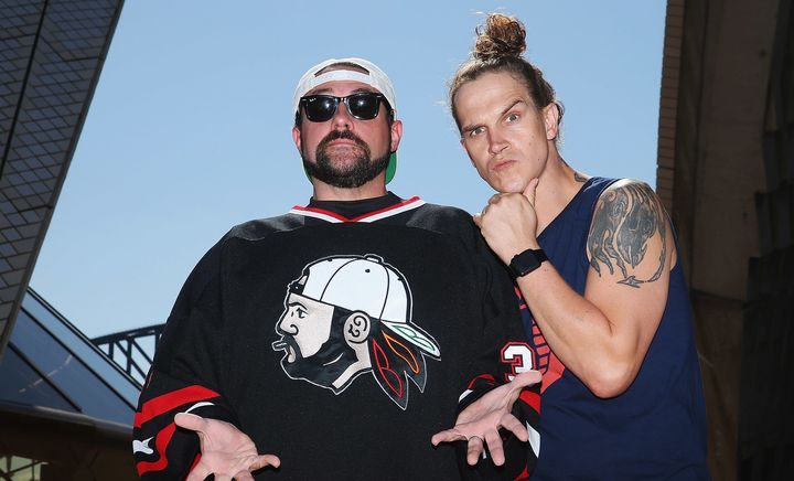 Kevin Smith and Jason Mewes, aka Silent Bob and Jay.