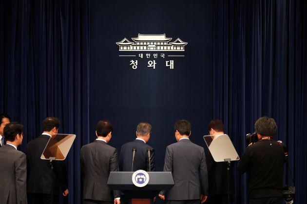 청와대 대변인이 '조선일보'를 콕 집어