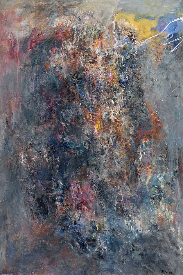 Ύπαρξη (113 x 77εκ.). Λάδι σε