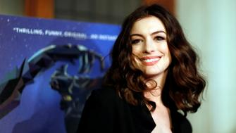 "Cast member Anne Hathaway poses at the premiere of the movie ""Colossal"" in Los Angeles, California, U.S., April 4, 2017. REUTERS/Mario Anzuoni"