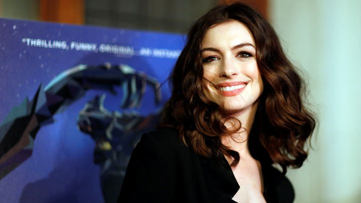 "Anne Hathaway poses at the premiere of the film ""Colossal"" in Los Angeles on April 4, 2017. The actress wants to protect"