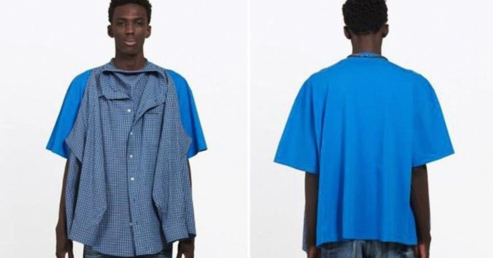 d16e661a Balenciaga Is Selling A Shirt With A Shirt Attached To It For $1,290 |  HuffPost Life
