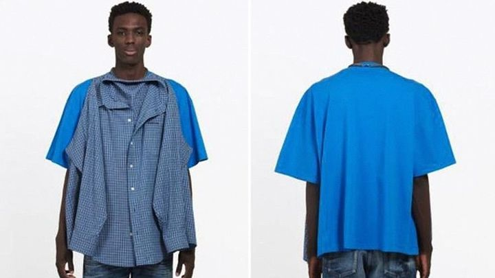 Balenciaga's T-shirt shirt can be yours for only $1,290. (Standard shipping is free.)