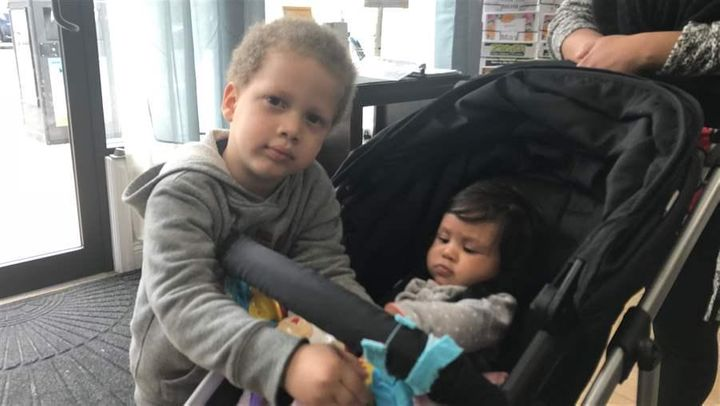 Young children hang out at the Liberty Family Success Center in Kearny, New Jersey. The drop-in center offers families free a