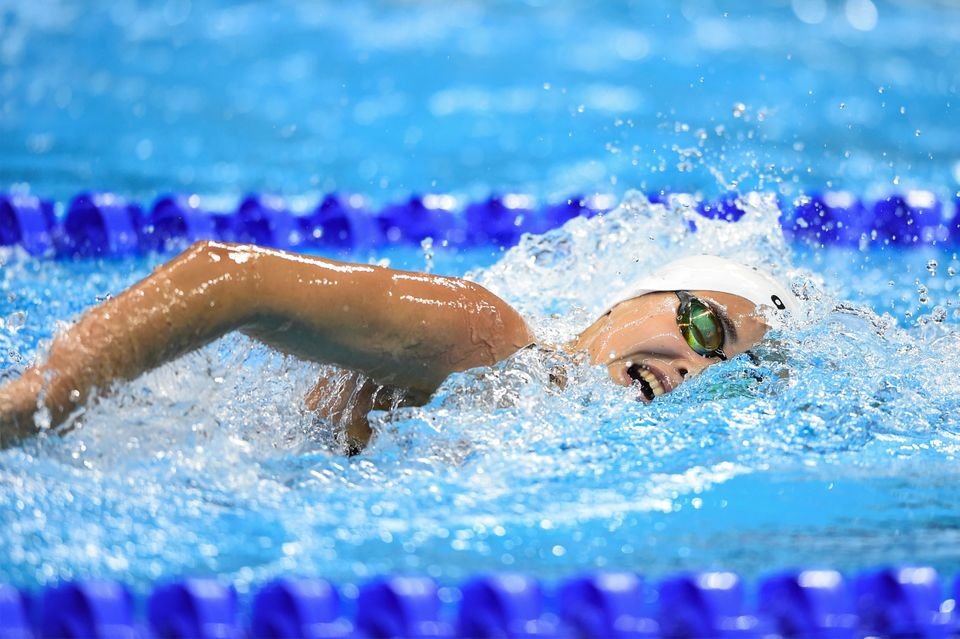 Yusra Mardini,then 18,competing at the 2016 Olympic Games in Rio de