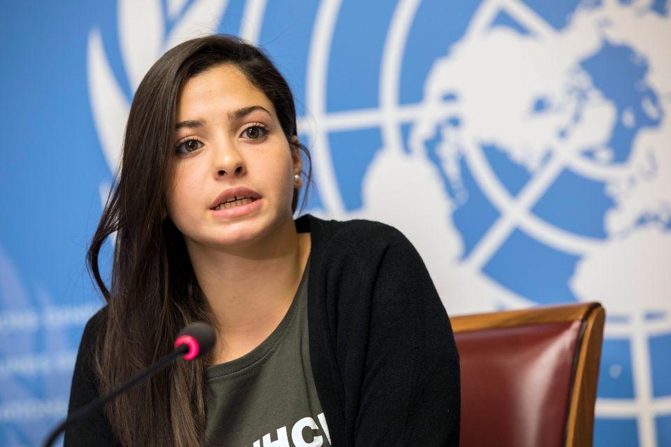 Press Conference announcing Yusra Mardini as UNHCR Goodwill