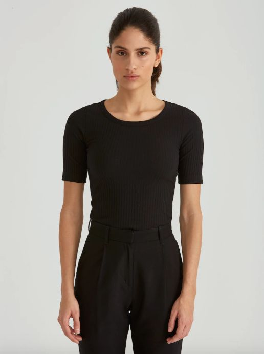 "Get it at <a href=""https://www.frankandoak.com/product/77-2120120-002/mid-sleeve-rib-sportneck-top-in-true-black"" target=""_bl"