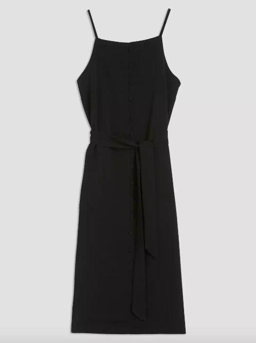 "Get it at <a href=""https://www.frankandoak.com/product/77-2510120-002/crepe-button-down-dress-in-true-black"" target=""_blank"">"