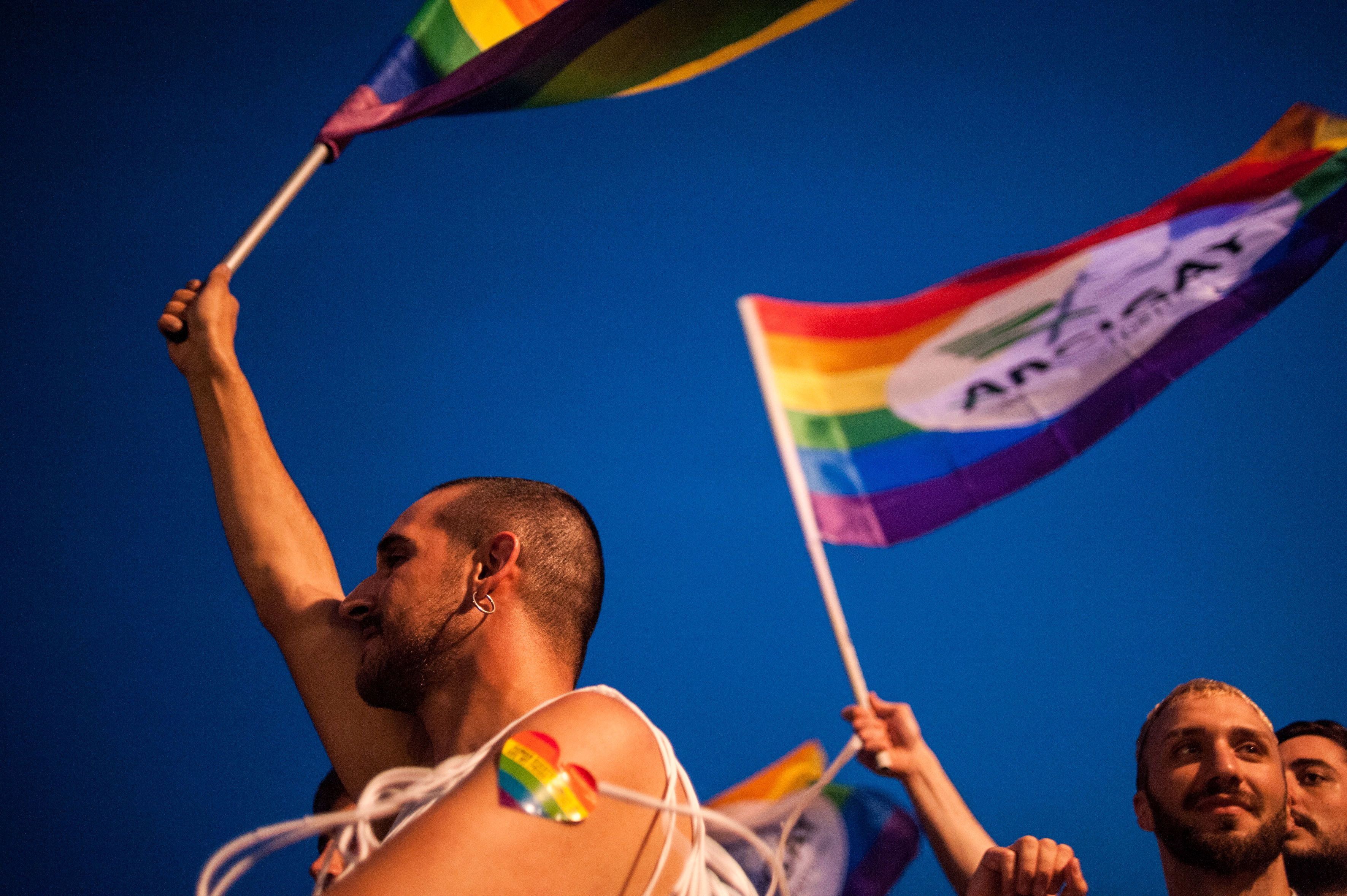 A Pride parade in Salerno, Italy on May 26,