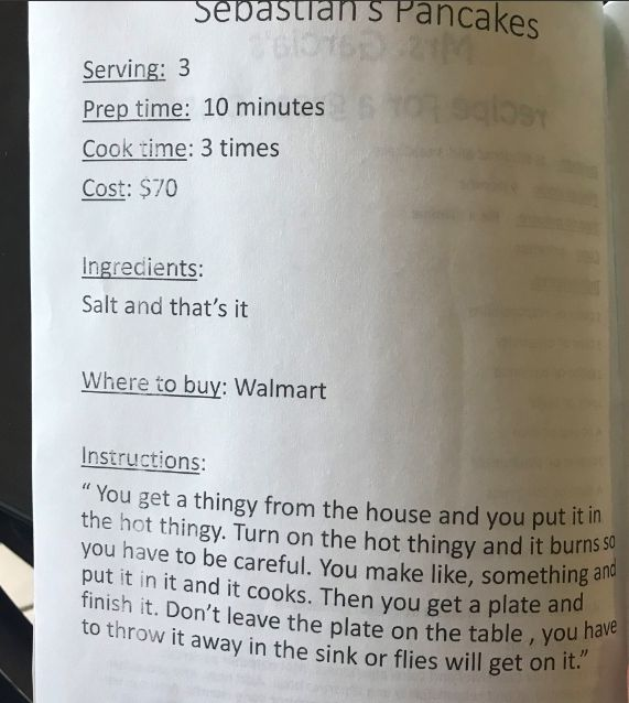 Some Preschoolers Wrote A Cookbook And Their Recipes Are