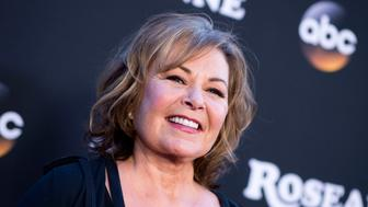 Actress/Executive producer Roseanne Barr attends The Roseanne Series Premiere at Walt Disney Studios on March 23, 2018 in Burbank, California. / AFP PHOTO / VALERIE MACON        (Photo credit should read VALERIE MACON/AFP/Getty Images)